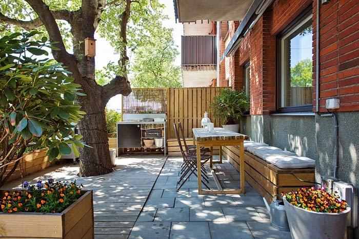 estilo rustico patios rusticos