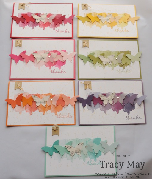 stampin up elegant butterfly punch  happy watercolor Tracy May card making idea