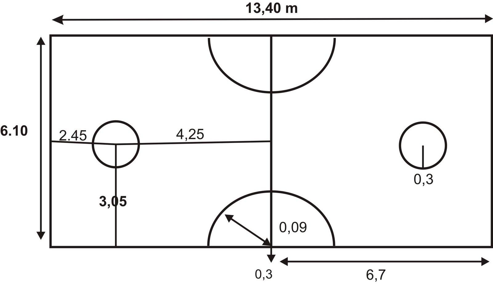 Gambar dan Ukuran Lapangan Sepak Takraw   ATURAN PERMAINAN