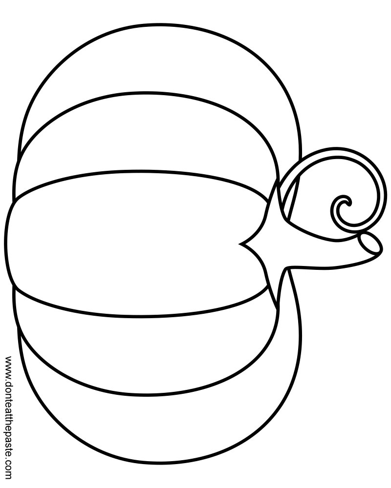printable blank pumpkin coloring pages - photo#2