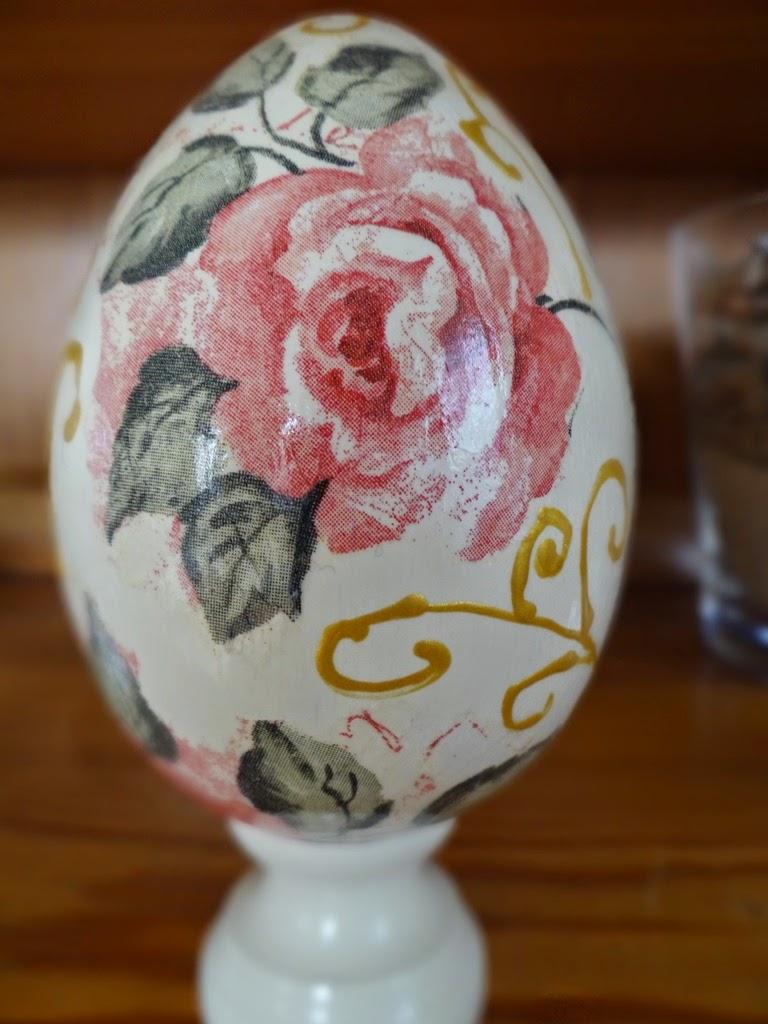 Jajko, pisanka decoupage, dekoracje wielkanocne