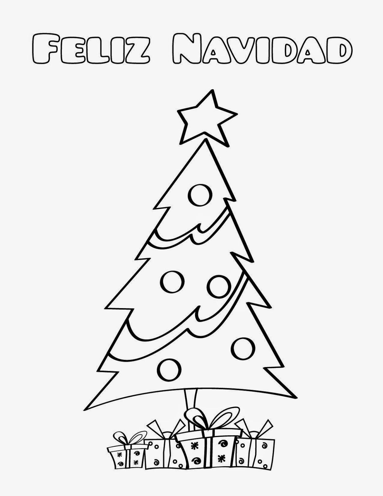 Coloring pages p ginas para colorear feliz navidad - Dibujos de arboles de navidad ...