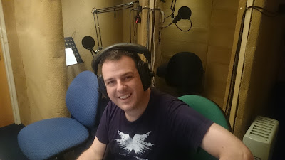 Christopher Jarvis in the Radio Theatre Workshop studio