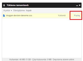 Blogger İçin Google Drive ile Kod Hostu Kullanımı