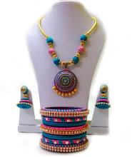 Silk Thread Jewel Set (Multicolor)