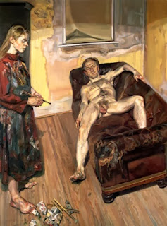 Painter and model (Lucian Freud)