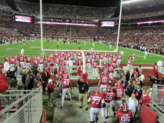 THE Alabama Crimson Tide take the field to defeat the LSU Tigers 38-17