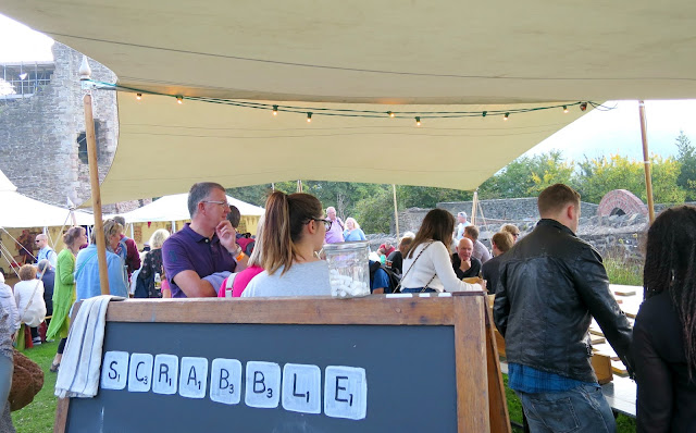 Abergavenny Food Festival Giant Scrabble Games Tent