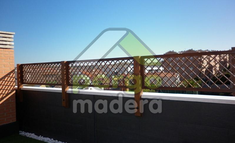 Pergomadera estructuras de madera celos a para su tico - Celosias terrazas aticos ...