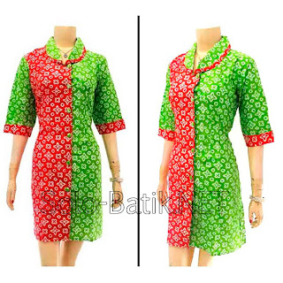 DB2975 - Model Baju Dress Batik Modern Terbaru 2013