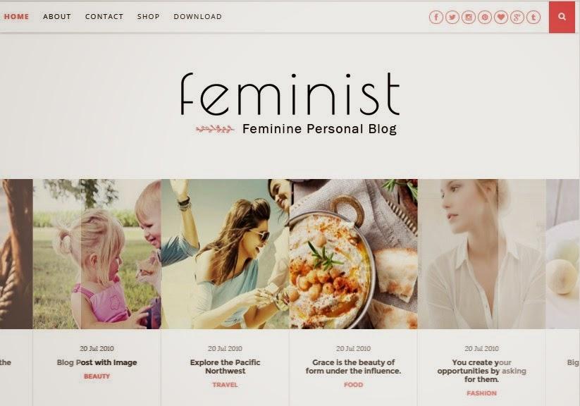 free responsive blogger templates feminist blogger template