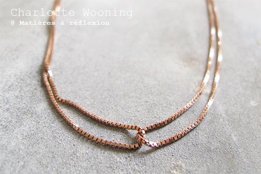 Charlotte Wooning collier Duo vermeil rose bijoux