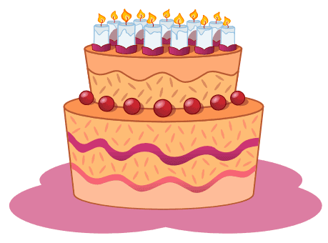 October Cake Clip Art : Birthdays, Age, And Time - Being Ron
