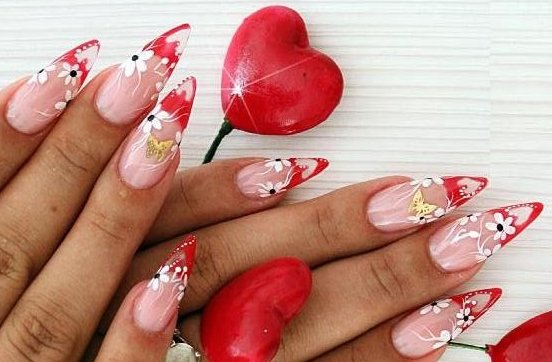 valentine\'s day nail designs Ideas -How to Decorate nails | Online ...