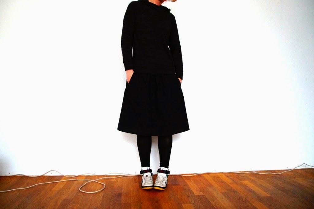 everyday skirt (pattern Liesl+co) - huisje boompje boefjes