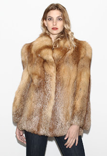 Vintage 1970's bohemian fluffy red fox fur coat.