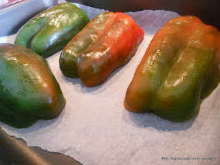Peperoni tagliati a metà