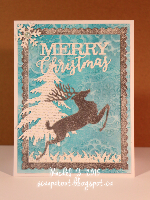 Handmade card, Impression Obsession, Winter, Reindeer