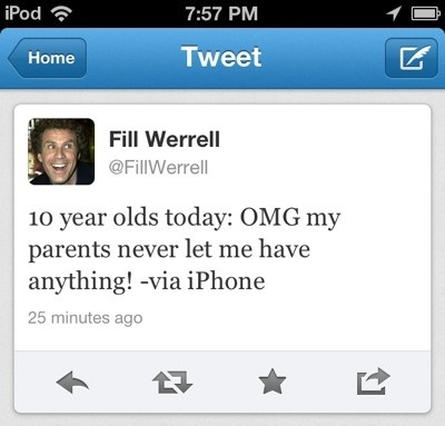 iPhone funny tweet by fill werrell