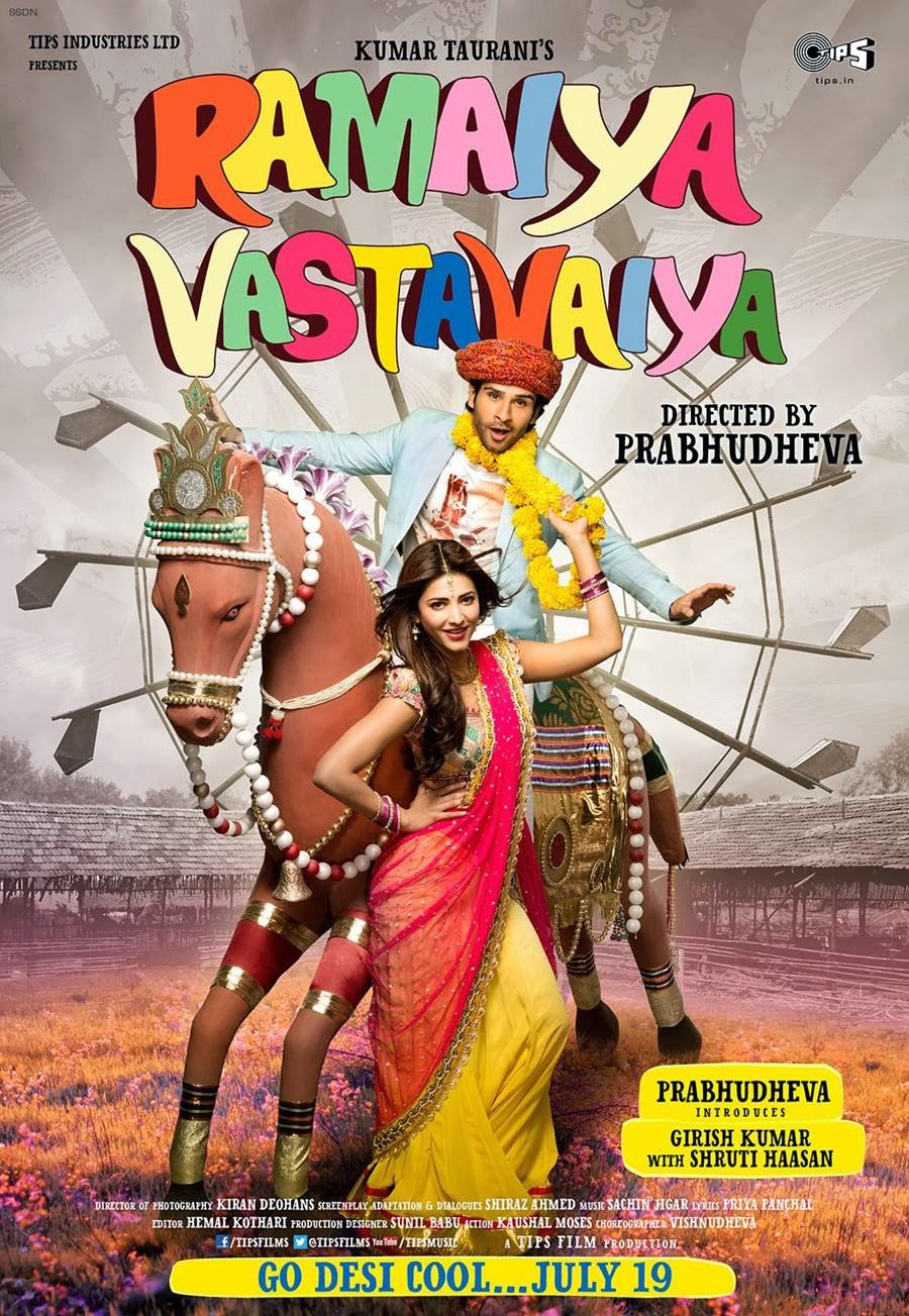 Watch Ramaiya Vastavaiya (2013) Hindi Blu Ray HD Rip Full Movie Watch Online For Free Download