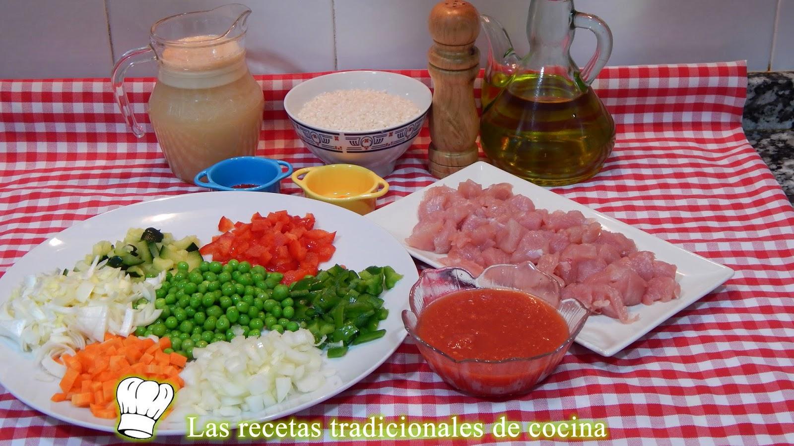 Receta fácil de arroz con verduras y pavo
