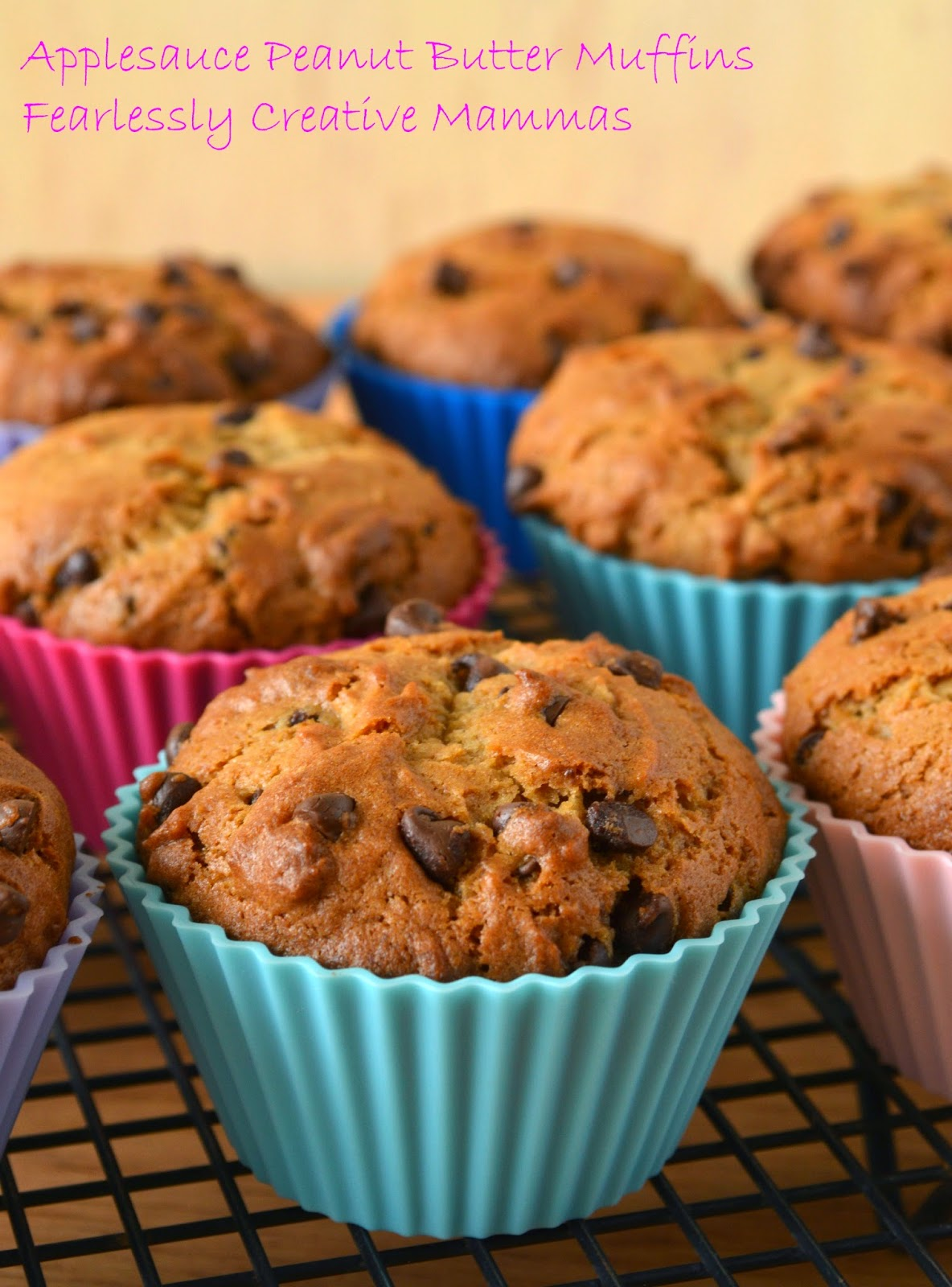 Applesauce Peanut Butter Muffins #foodieextravaganza