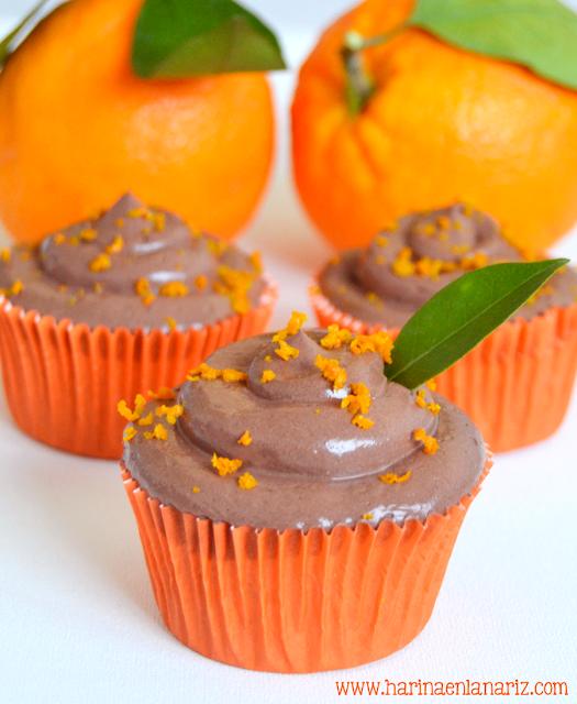 crema de chocolate y naranja