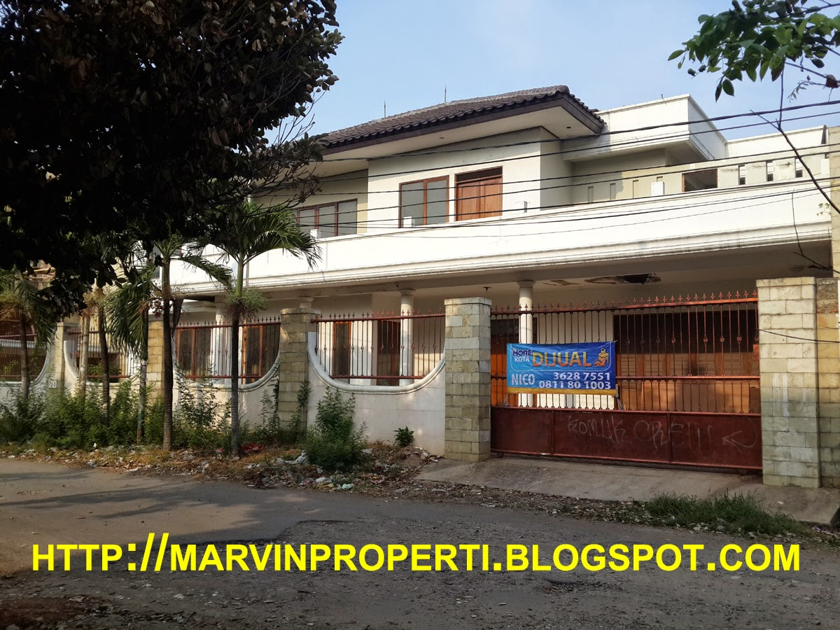 Rumah Dijual Sunter Mas luas lega Sunter Jakarta Utara tampak samping Desember 2014