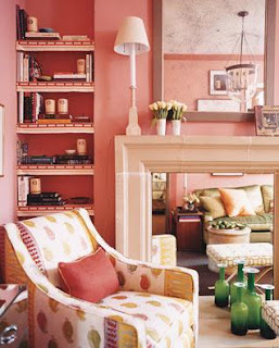 Coral Painted Room