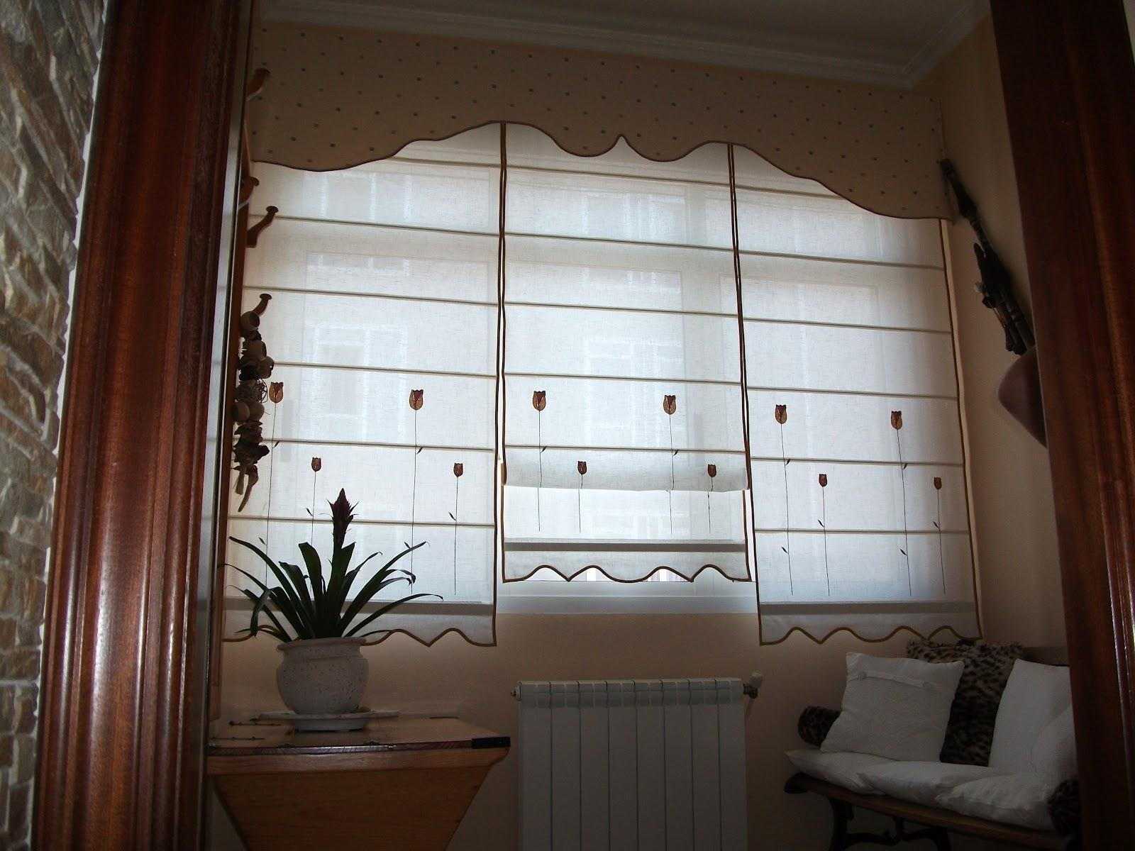 El rinconcito de las rodriguez ventana con tres estores - Estores de varillas ...