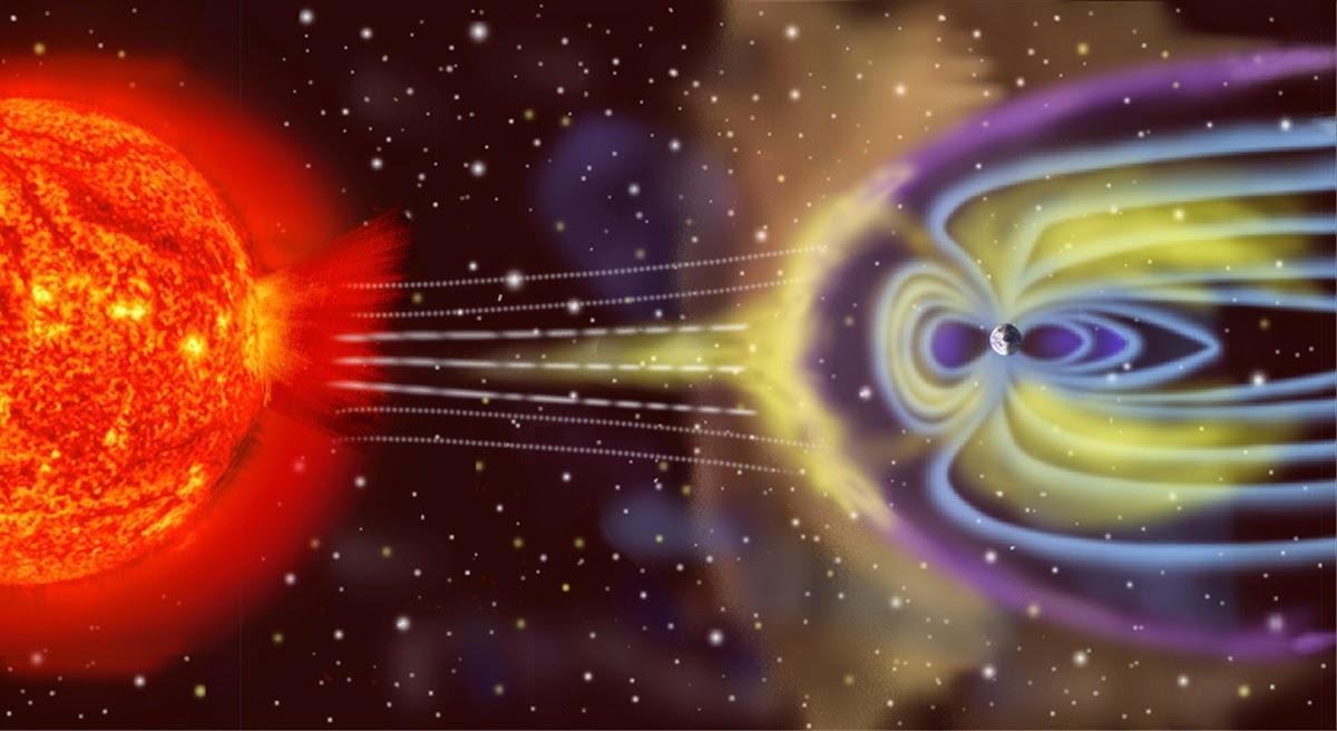 В верхние слои атмосферы попадают частицы солнечного ветра