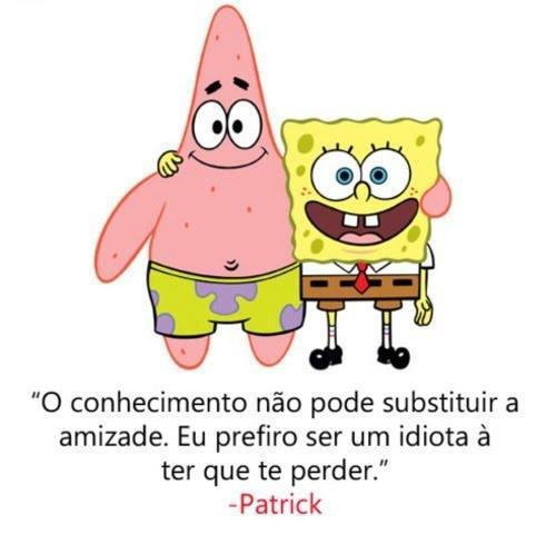 Amizade é tudo!: Bob esponja & Patrick