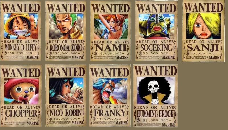 The Wanted PostersOne Piece Luffy Wanted Posters