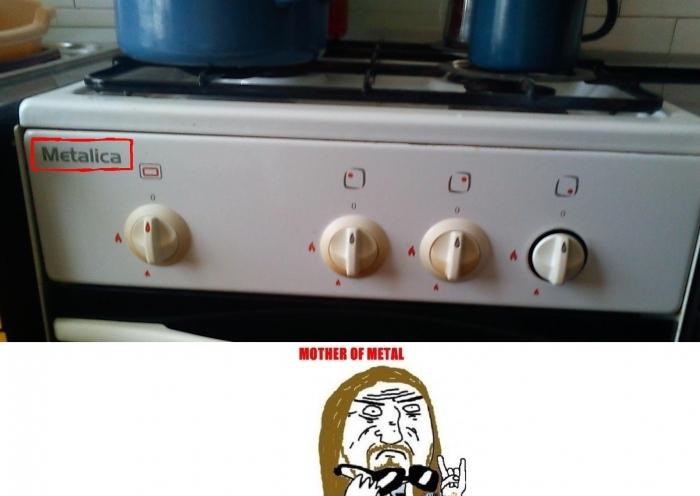 Metallica Stove Meme