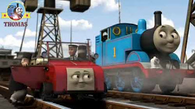 Thomas tank engine the Fat Controller will drive blue mountain mystery Winston the red car motor