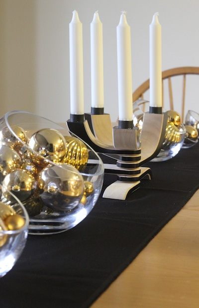 Black And Gold Mesh Centerpiece : Ashbee design new year s centerpiece gold and black