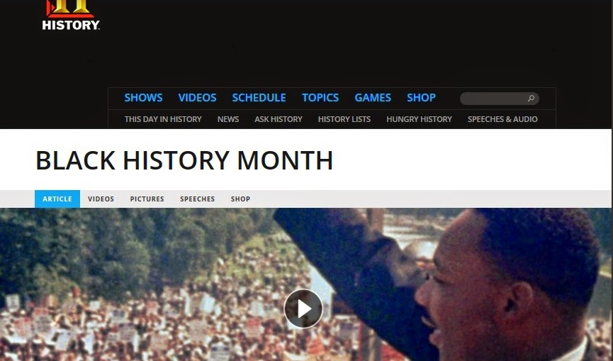 History Channel Black History Month