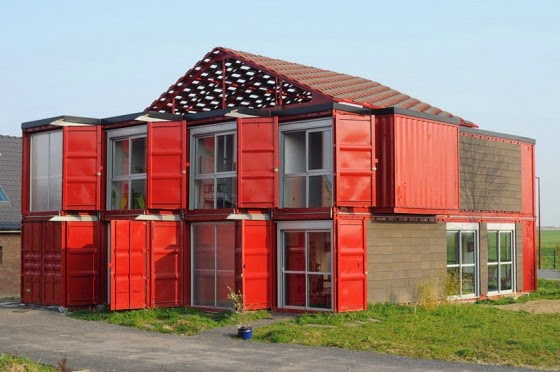 Design of House made with containers