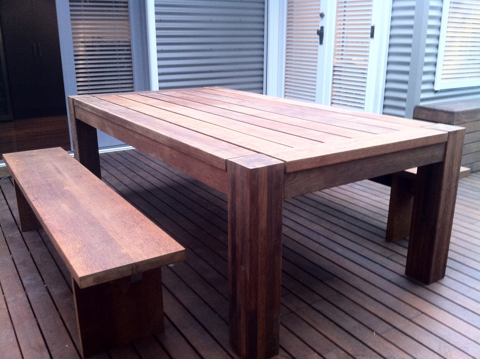 bombora custom designs merbua outdoor table and bench seats