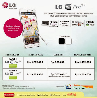 Promo LG G Pro Lite Pre Order