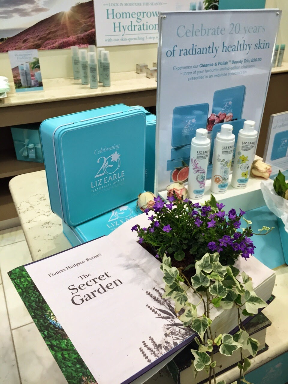 liz earle secret garden press day