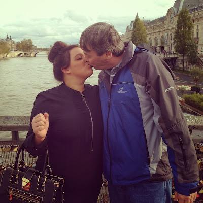 Love lock Bridge in Paris, france