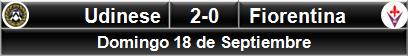 Udinese 2-0 Fiorentina