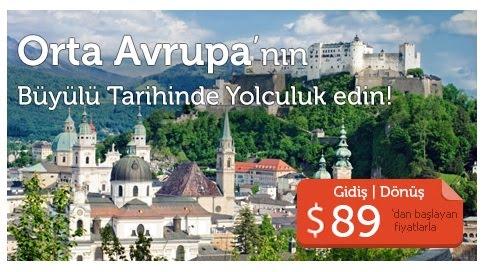 Orta Avrupa Uçak Bileti Kampanya