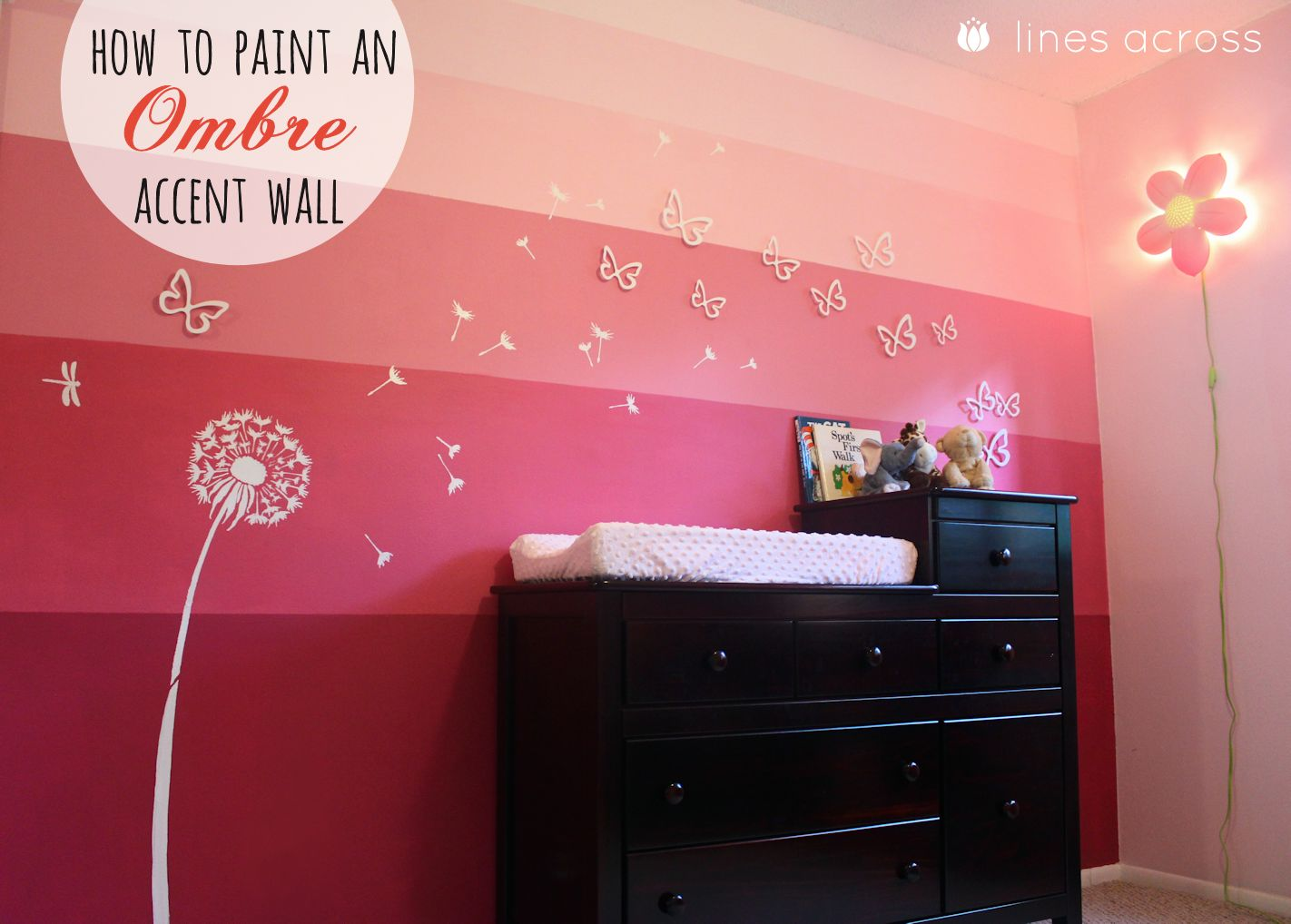 how to paint an ombre accent wall - lines across