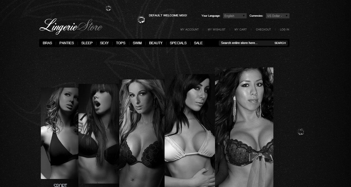 dịch vụ thiết kế web đồ lót