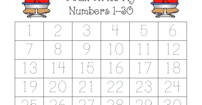 All Worksheets u00bb Number Worksheets 1 30 - Printable ...