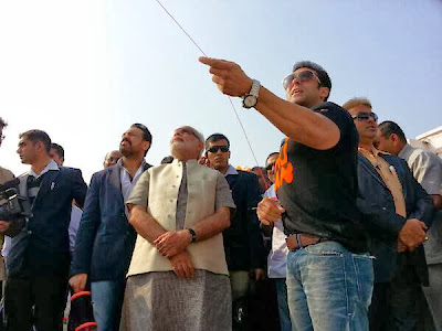 Salman Khan Celebrates Uttarayan With Narendra Modi