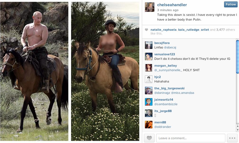 Popular TV Comedian Chelsea Handler's Racy Topless Photo