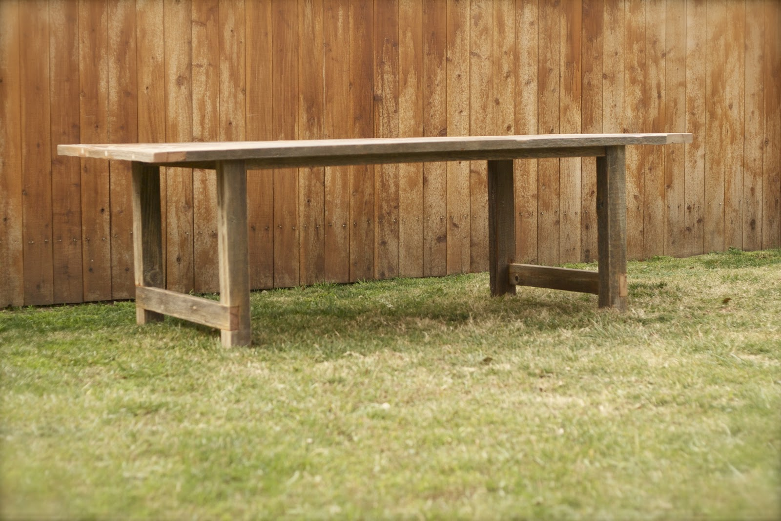 Exchange Reclaimed Wood Furniture Weathered Outdoor Dining Table